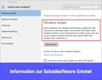 Information zur Schadsoftware Emotet