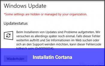 Installatin Cortana