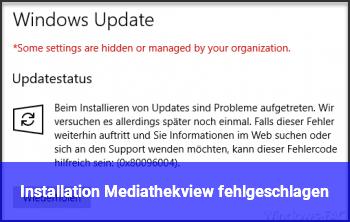 Installation Mediathekview fehlgeschlagen