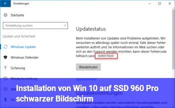 Installation von Win 10 auf SSD 960 Pro (schwarzer Bildschirm)