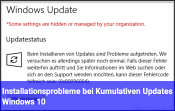 Installationsprobleme bei Kumulativen Updates (Windows 10)
