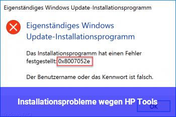 Installationsprobleme wegen HP Tools