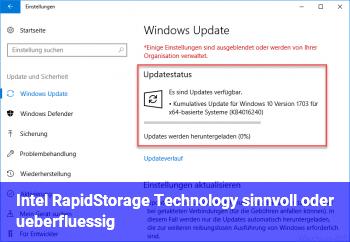 Intel RapidStorage Technology sinnvoll oder überflüssig?