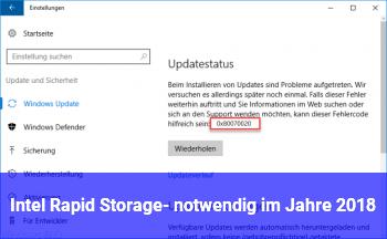 Intel Rapid Storage- notwendig im Jahre 2018?
