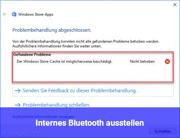 Internes Bluetooth ausstellen.