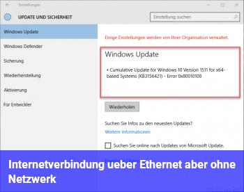 Internetverbindung über Ethernet aber ohne Netzwerk.