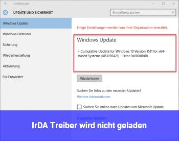 IrDA Treiber wird nicht geladen
