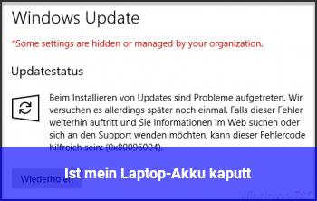 Ist mein Laptop-Akku kaputt?