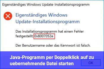 Java-Programm per Doppelklick auf zu übernehmende Datei starten