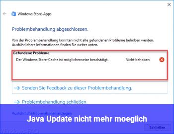 Java Update nicht mehr möglich?