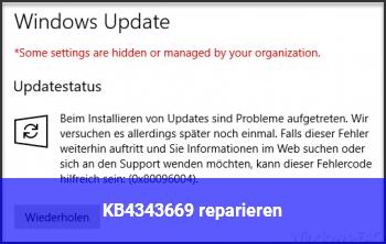 """KB4343669 """"reparieren"""""""