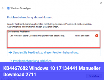 KB4467682 Windows 10 17134.441 (Manueller Download) 27.11.