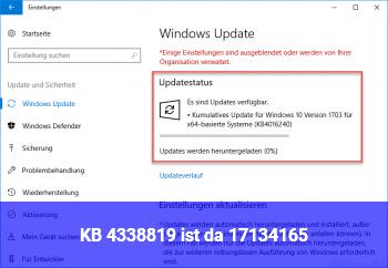 KB 4338819 ist da (17134.165)