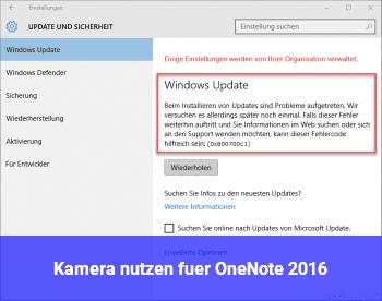 Kamera nutzen für OneNote 2016