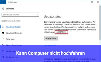 Kann Computer nicht hochfahren
