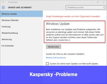 Kaspersky -Probleme