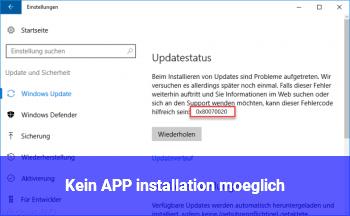 Kein APP installation möglich