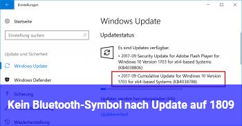 Kein Bluetooth-Symbol nach Update auf 1809