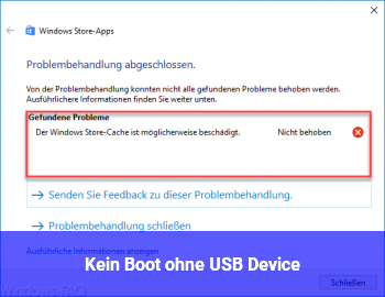 Kein Boot ohne USB Device