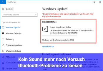 Kein Sound mehr nach Versuch Bluetooth-Probleme zu lösen