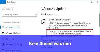 Kein Sound, was nun?