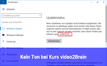 Kein Ton bei Kurs video2Brain