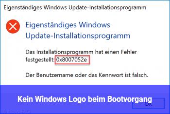 Kein Windows Logo beim Bootvorgang
