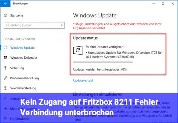 Kein Zugang auf Fritzbox – Fehler: Verbindung unterbrochen