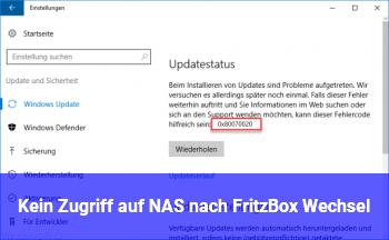 Kein Zugriff auf NAS nach Fritz!Box Wechsel