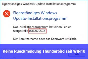 windows 10 ständig keine rückmeldung