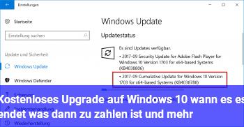 Kostenloses Update Auf Windows 10