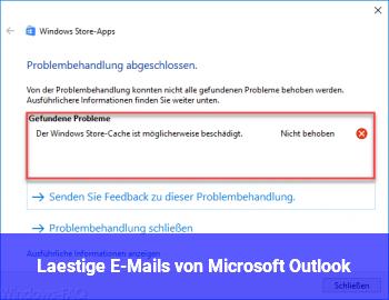 Lästige E-Mails von Microsoft Outlook