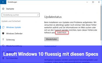 Läuft Windows 10 flüssig mit diesen Specs?