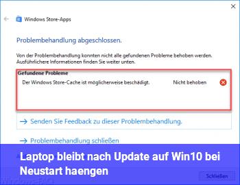 Laptop bleibt nach Update auf Win10 bei Neustart hängen