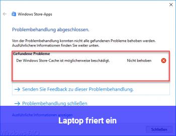 Laptop friert ein
