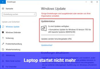 Laptop startet nicht mehr