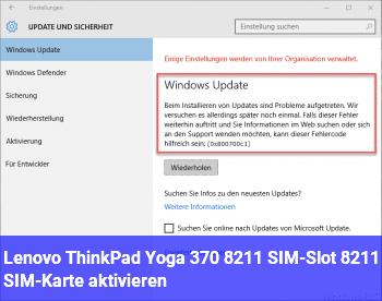 Lenovo ThinkPad Yoga 370 – SIM-Slot – SIM-Karte aktivieren