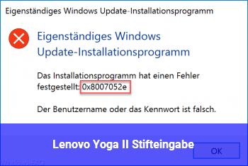 Lenovo Yoga II Stifteingabe