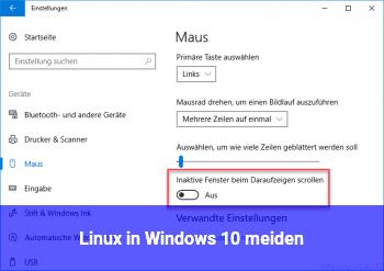 Linux in Windows 10 meiden