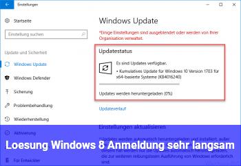 Lösung: Windows 8 Anmeldung sehr langsam