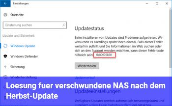 Lösung für verschwundene NAS nach dem Herbst-Update