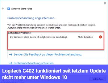 Logitech G402 funktioniert seit letztem Update nicht mehr unter Windows 10