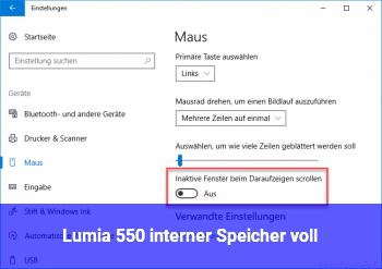 Lumia 550 interner Speicher voll