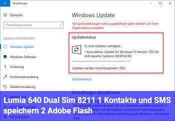 Lumia 640 Dual Sim – 1 ) Kontakte und SMS speichern 2) Adobe Flash