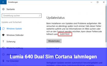 Lumia 640 Dual Sim: Cortana lahmlegen