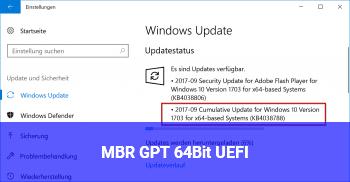 MBR GPT 64Bit UEFI ?