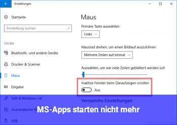 MS-Apps starten nicht mehr