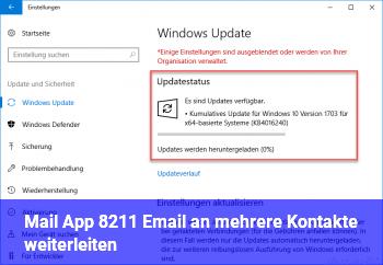Mail App – Email an mehrere Kontakte weiterleiten ?