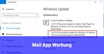 Mail App Werbung