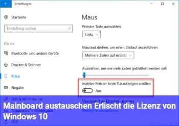 Mainboard austauschen. Erlischt die Lizenz von Windows 10?